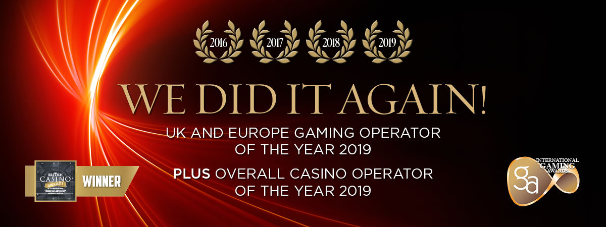 European Casino Operator of the year 2016/2017/2018/2019